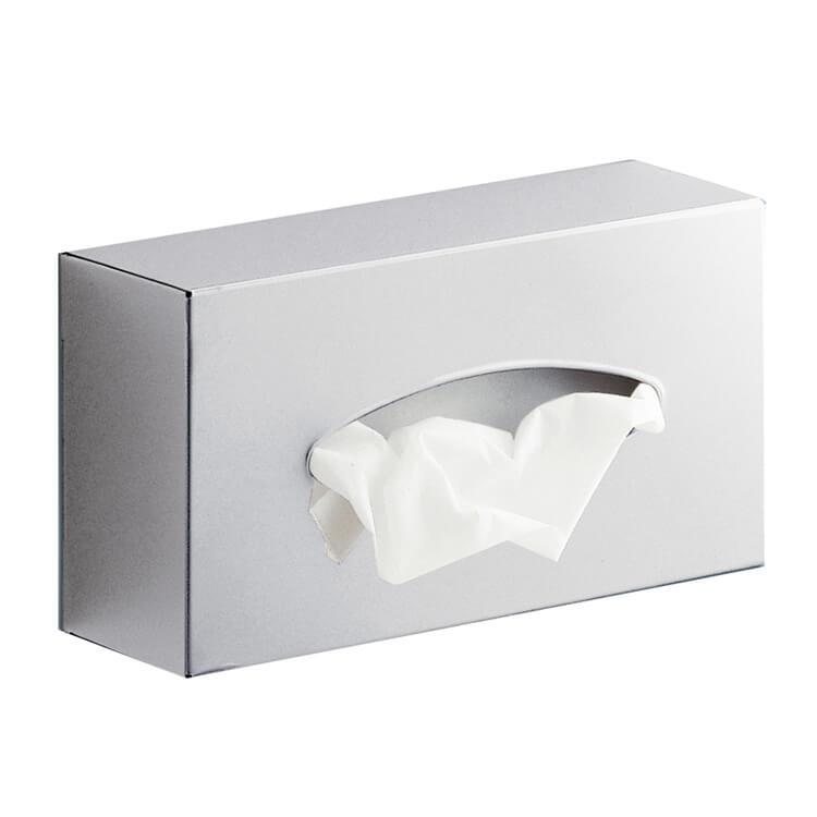 Tissue Box Cover, Gedy 2308-13, Rectangle Stainless Steel Wall Tissue Box Holder
