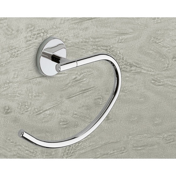Towel Ring, Gedy 4270-13, Curved Polished Chrome Towel Ring
