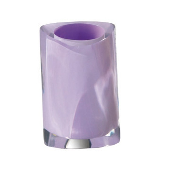 Toothbrush Holder, Gedy 4698-79, Lilac Round Countertop Toothbrush Holder