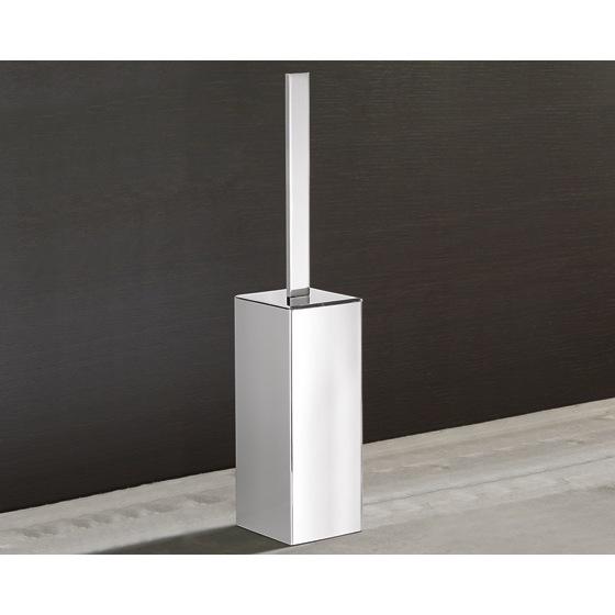 Toilet Brush Gedy 5433 13 Square Polished Chrome Holder