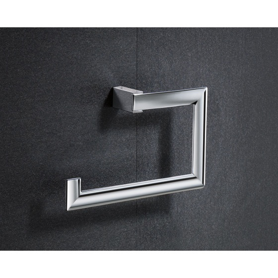 Towel Ring, Gedy 5570-13, Square Chromed Brass Towel Ring