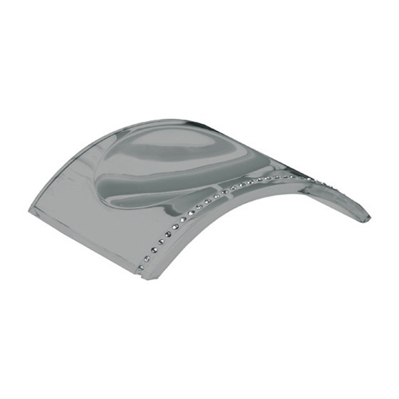 Soap Dish, Gedy 7411-73, Silver Countertop Soap Dish with Crystals