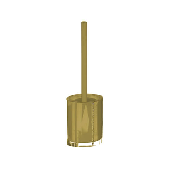 Toilet Brush, Gedy 7433-87, Gold Toilet Brush Holder with Crystals