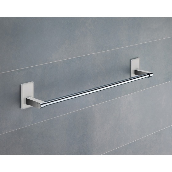 Towel Bar, Gedy 7821-45-02, 18 Inch White Mounting Polished Chrome Towel Bar