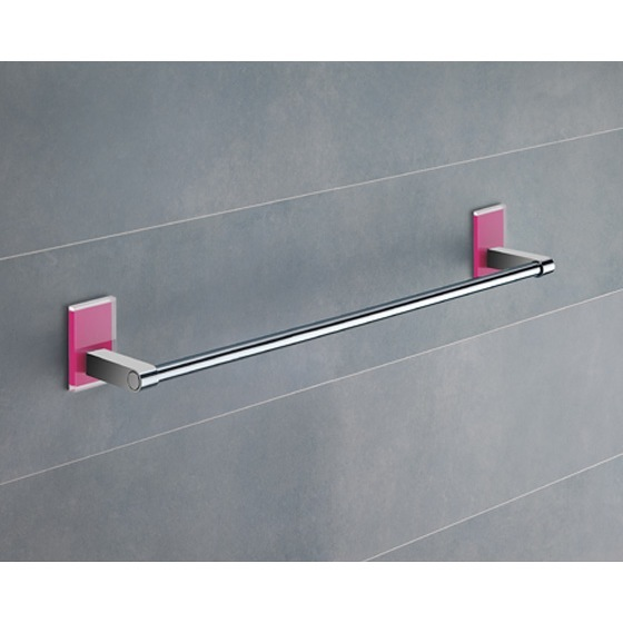 Towel Bar, Gedy 7821-45-76, 18 Inch Pink Mounting Polished Chrome Towel Bar