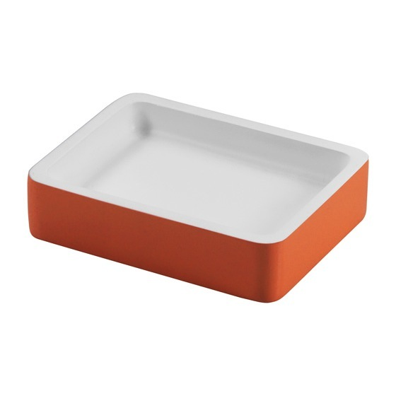 Soap Dish, Gedy 7911-67, Rectangle Orange Soap Holder