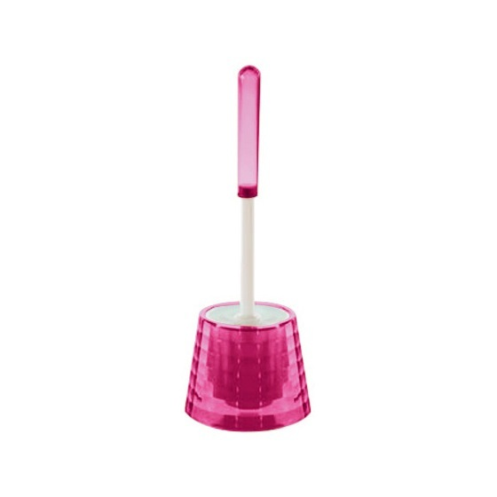 Toilet Brush, Gedy GL33-76, Decorative Pink Toilet Brush Holder