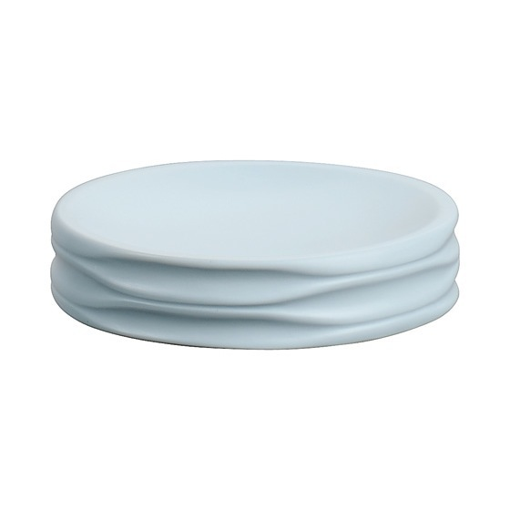 Soap Dish, Gedy OR11-86, Round Sky Blue Soap Dish
