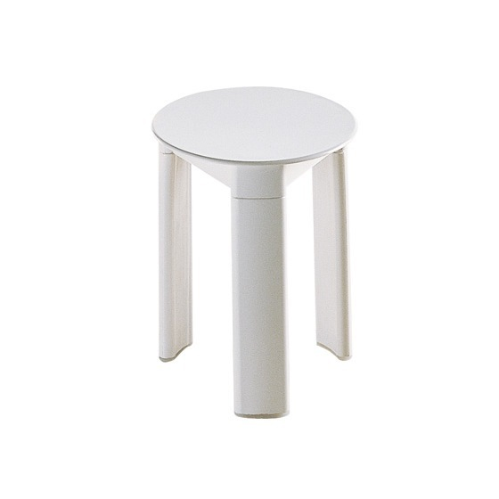 Bathroom Stool, Gedy 2072 02, White Round Floor Standing Bathroom Stool