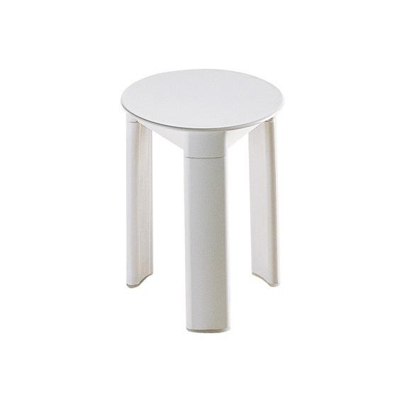 Bathroom Stool Gedy 2072 02 White Round Floor Standing