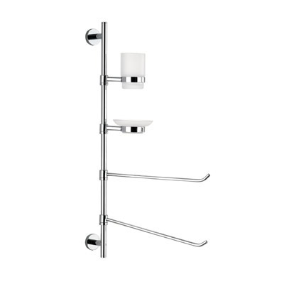 Bathroom Butler, Gedy 2635-13, Wall Mounted Three-Function Chrome Butler