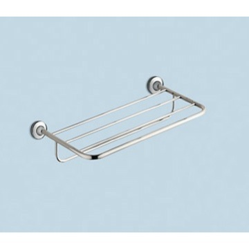 Train Rack, Gedy 2735-13, Polished Chrome Towel Shelf With Towel Bar