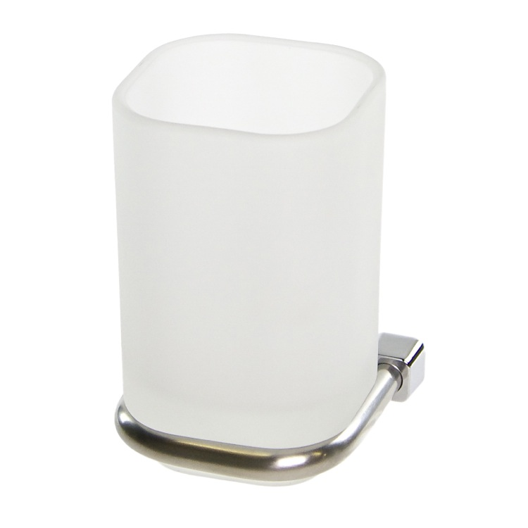 Toothbrush Holder, Gedy 3110-SB, Wall Mounted Satin White Toothbrush Holder