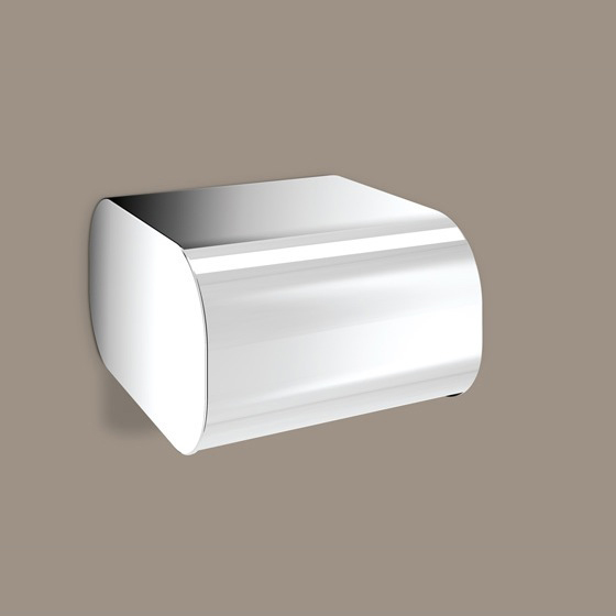 Toilet Paper Holder, Gedy 3225-13, Round Chrome Toilet Paper Dispenser With Cover