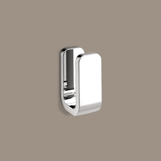 Bathroom Hook, Gedy 3226-13, Polished Chrome Single Robe Hook