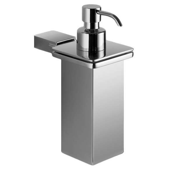 Soap Dispenser, Gedy 3881-01-13, Wall Mounted Square Polished Chrome Soap Dispenser