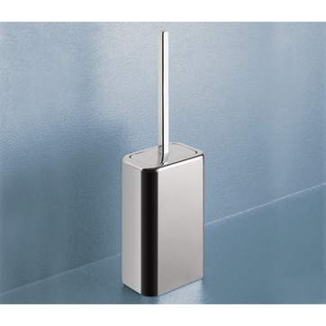 Toilet Brush, Gedy 4333-13, Polished Chrome Toilet Brush Holder