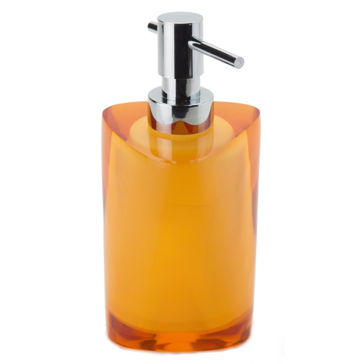 Soap Dispenser, Gedy 4681-S9, Amber Free Standing Soap Dispenser