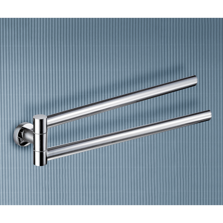 Gedy 5123 13 By Nameek S Demetra 17 Inch Polished Chrome Double Towel Holder Thebathoutlet