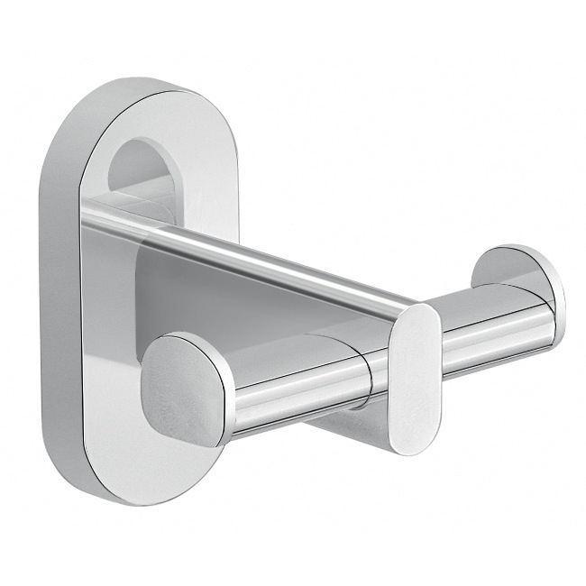 Bathroom Hook, Gedy 5326-13, Wall Mounted Chrome Double Bathroom Hook