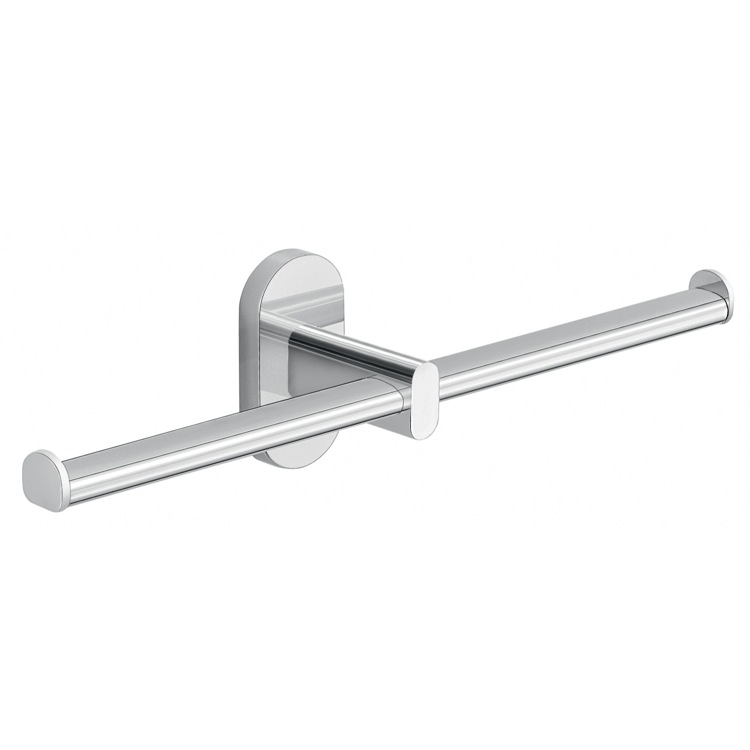 Toilet Paper Holder, Gedy 5329-13, Wall Mounted Chrome Double Toilet Paper Holder