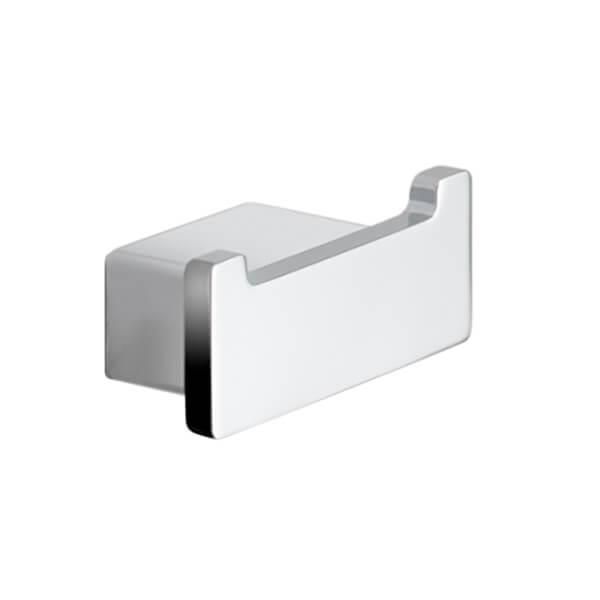Bathroom Hook, Gedy 5426-13, Square Polished Chrome Double Hook