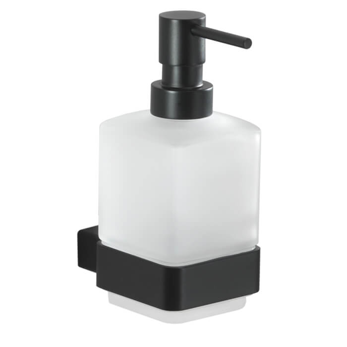 Soap Dispenser, Gedy 5481-M4, Wall Mounted Frosted Glass Soap Dispenser