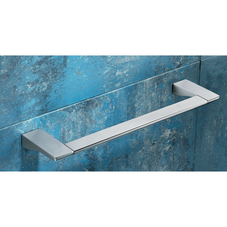 Towel Bar, Gedy 5721-45-13, Square 18 Inch Polished Chrome Towel Bar