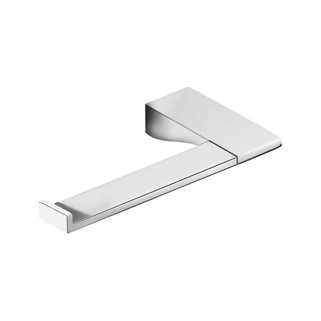 Toilet Paper Holder, Gedy 5724-13, Square Polished Chrome Toilet Roll Holder