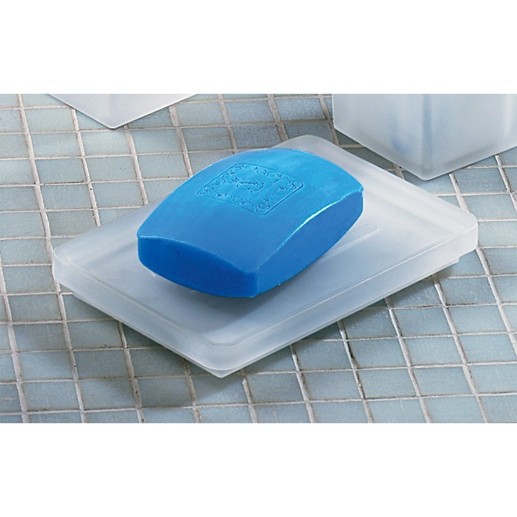 Soap Dish, Gedy 5751-02, Square Frosted Glass Soap Holder