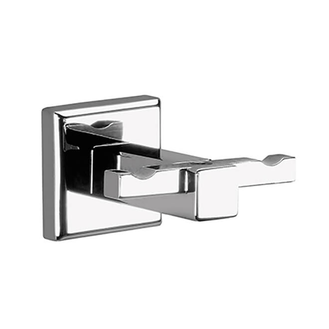 Bathroom Hook, Gedy 6928-13, Polished Chrome Double Hook