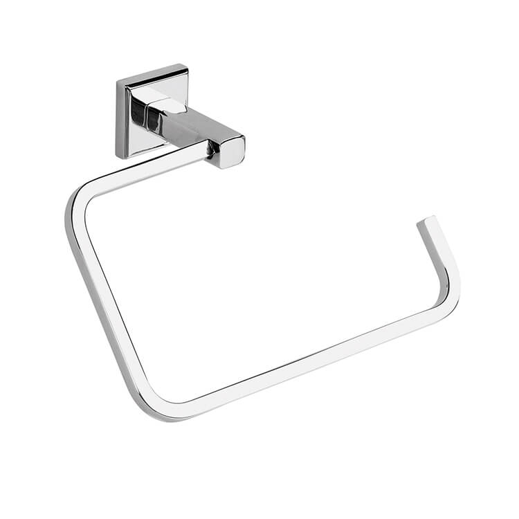 Towel Ring, Gedy 6970-13, Polished Chrome Square Towel Ring