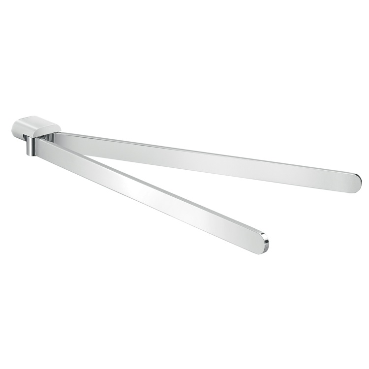 Swivel Towel Bar Gedy A123 13 Modern Wall Mounted Double Arm Chrome