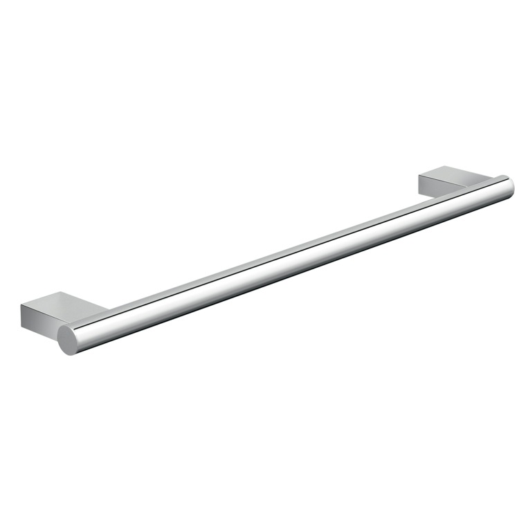Towel Bar, Gedy A221-45-13, 18 Inch Luxury Wall Mounted Round Chrome Towel Bar