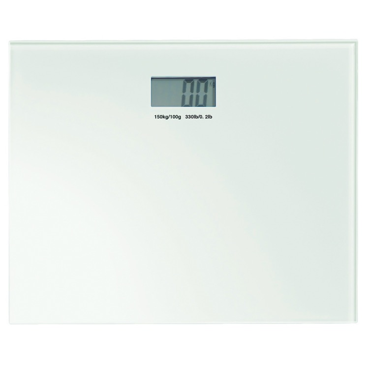 Scale, Gedy RA90-02, Square White Electronic Bathroom Scale