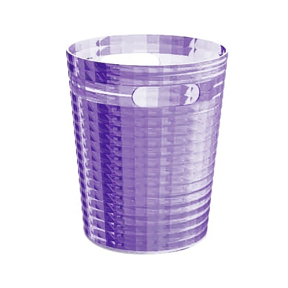Waste Basket, Gedy GL09-79, Free Standing Waste Basket Without Cover in Lilac Finish