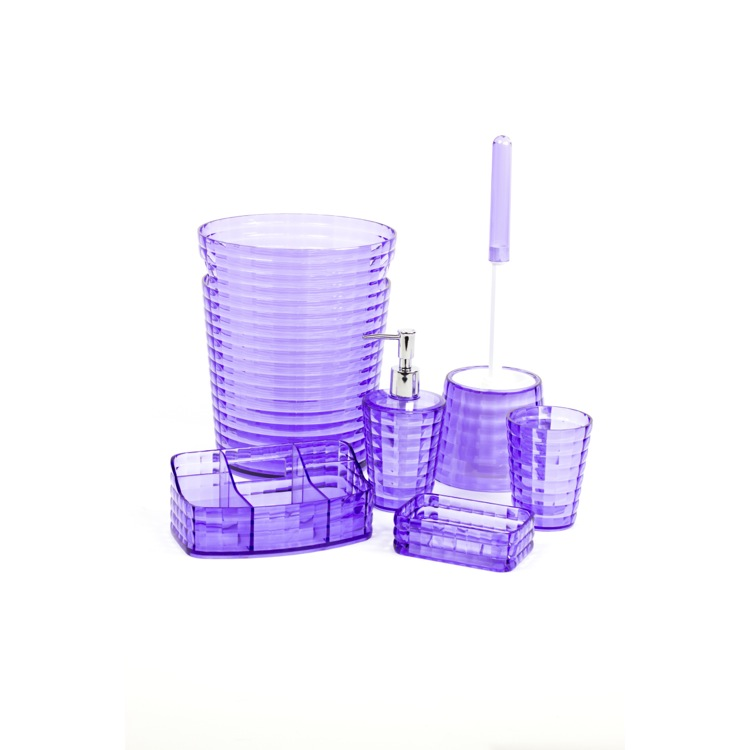 Bathroom Accessory Set Gedy Gl6081 79 Lilac 6 Piece