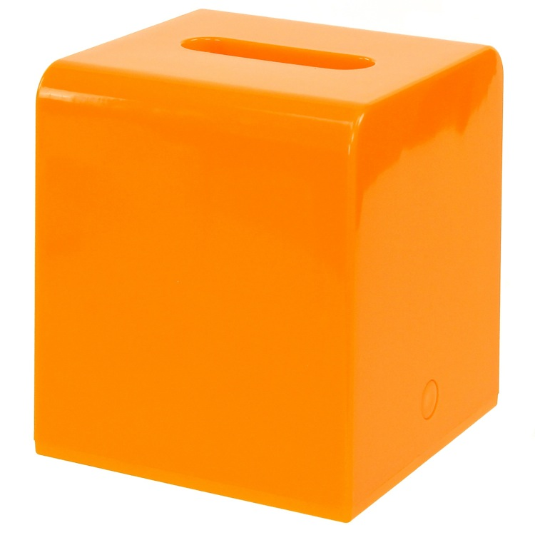 Tissue Box Cover, Gedy 2001-67, Square Orange Tissue Box Cover of Thermoplastic Resins