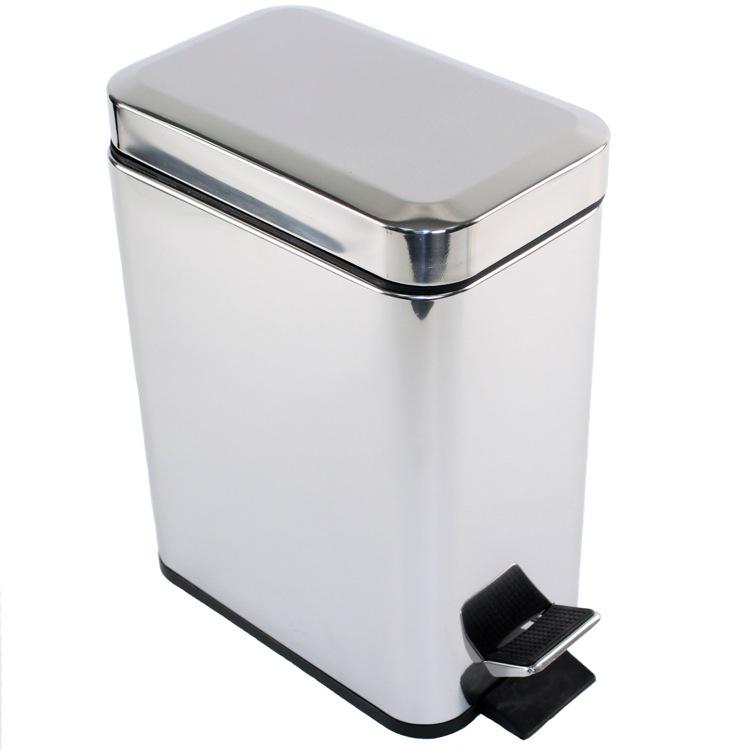 Gedy 2909 13 waste basket argenta nameek 39 s for Bathroom wastebasket