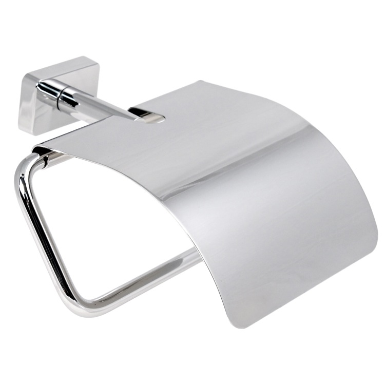 Toilet Paper Holder, Gedy 6625-13, Chrome Toilet Roll Holder With Cover