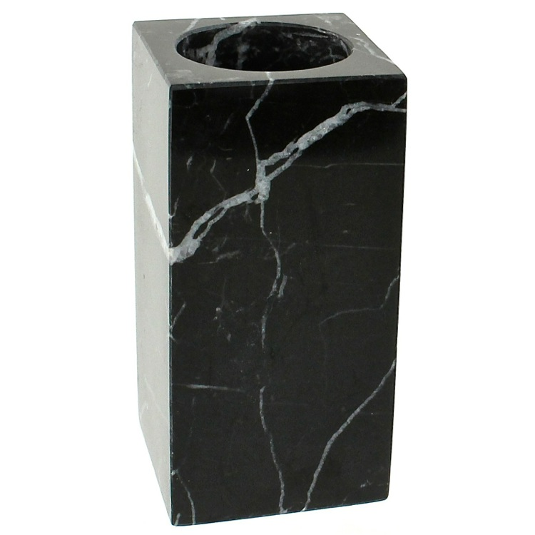 Toothbrush Holder, Gedy AN98-14, Black Marble Toothbrush Holder
