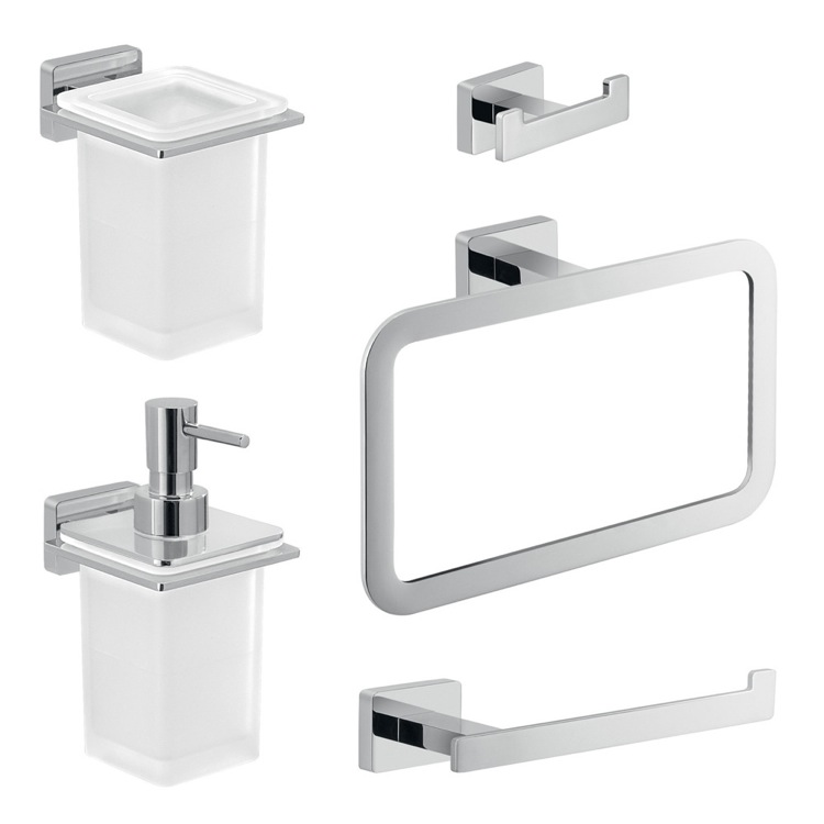 Gedy atn103 by nameek 39 s atena complete 5 piece bathroom for Bathroom 5 piece set