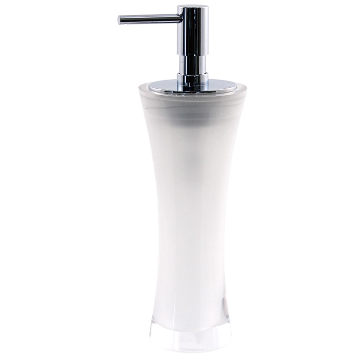 Soap Dispenser, Gedy AU80-00, Free Standing Soap Dispenser Made From Thermoplastic Resins in Transparent Finish