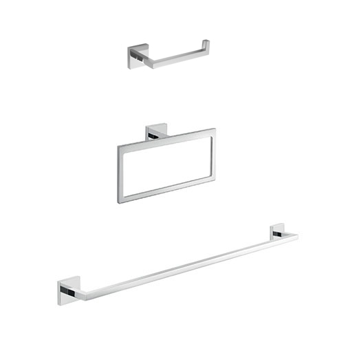 Bathroom Hardware Set, Gedy ELBA1400, Modern Bathroom Accessories Set
