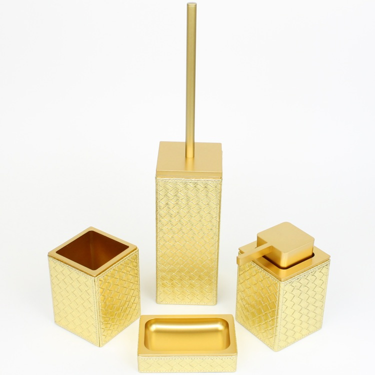 Gedy mk100 bathroom accessory set marrakech nameek 39 s for Gold toilet accessories