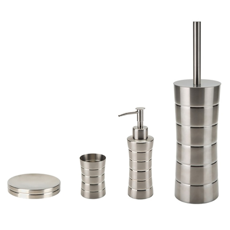 Bathroom Accessory Set Gedy Nas100 Free Standing Brushed Nickel Hardware