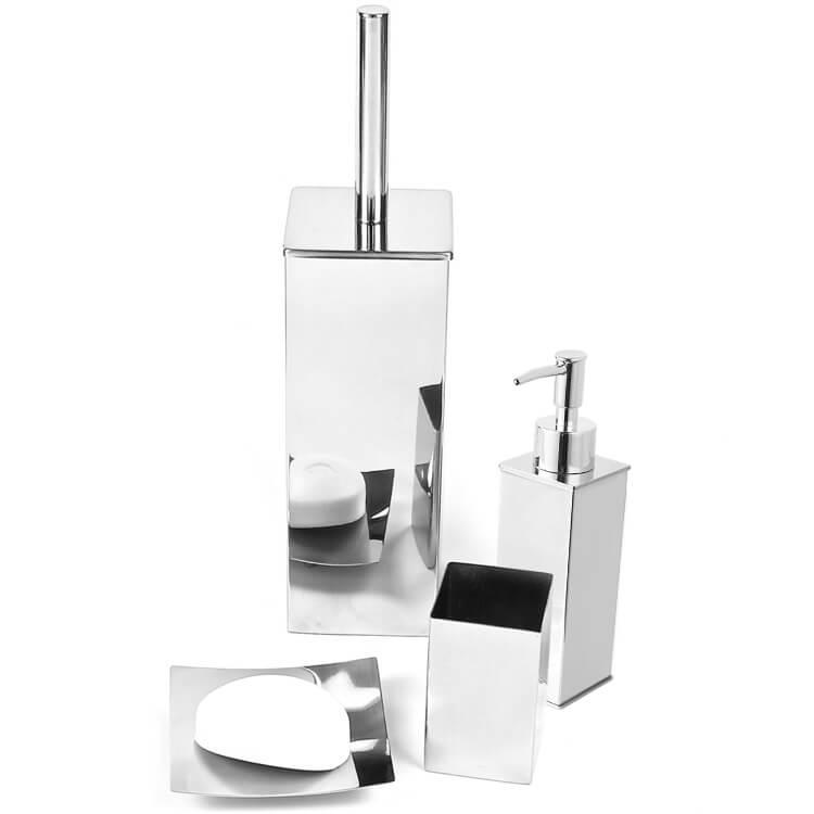 Gedy Ne100 By Nameek S Nemesia Nemesia Polished Chrome Bathroom Accessory Set Thebathoutlet