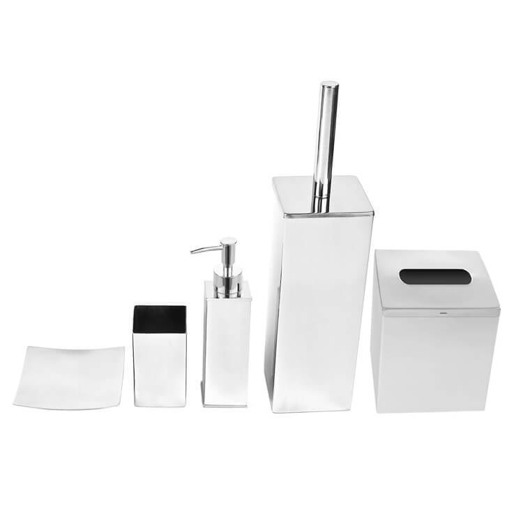 Gedy Ne102 By Nameek S Nemesia Free Standing Stainless Steel Bathroom Accessory Set Thebathoutlet