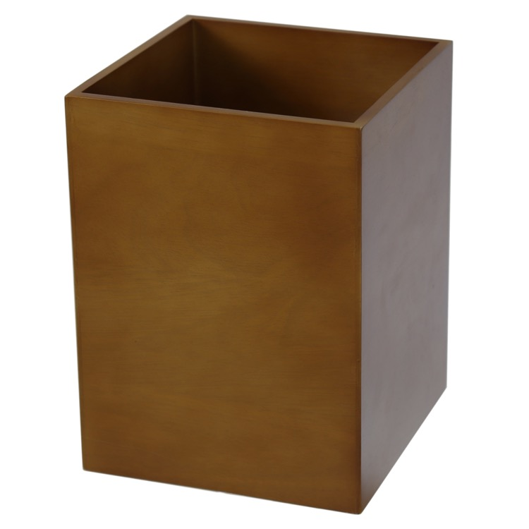 Waste Basket, Gedy PA09-44, Waste Basket Made From Cherry Finish Wood