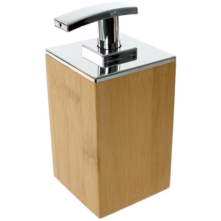 Soap Dispenser Wood Square Soap Dispenser Gedy PO81 35